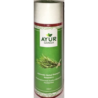 Аюредический Хербал Шампунь РОЗМАРИН Аюрганга (Ayurganga Ayurvedic Herbal Shampoo ROSEMARRY) 200 мл