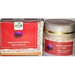 Аюредический Хербал Крем ШАФРАН Аюрганга (Ayurganga Ayurvedic Herbal  Cream SAFFRON) 30 гр